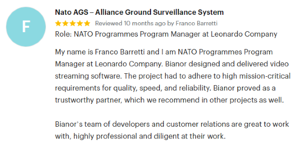 Franco Barretti NATO AGS Quote
